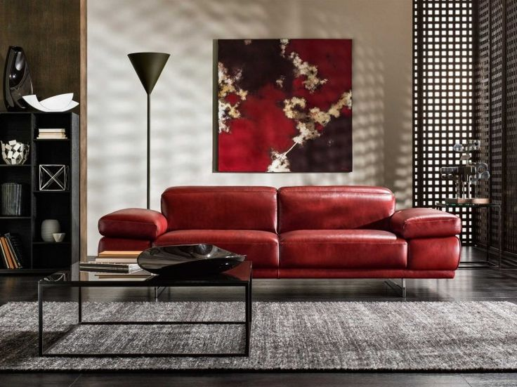 Preludio, Zitbanken, | Natuzzi. Red Leather ...