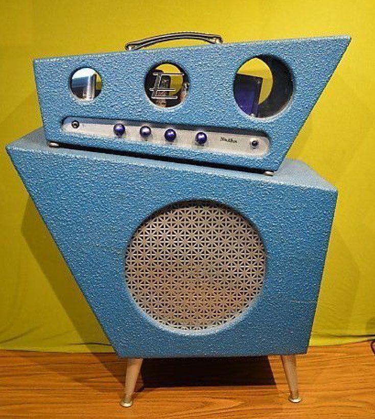Midcenturymodern Stereo Speaker Spaceage Atomic Design Retro Vintage 1950s Googie Electronics Audiosyste Classic Guitar Cool Guitar Boutique Guitar