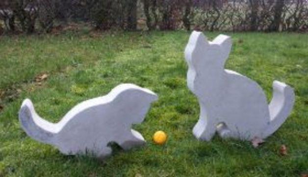 Gartendekoration - Giessform Beton -Katze- 33 cm - ein Designerstück von BIF-Hermes bei DaWanda