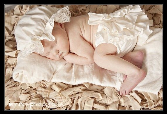 Ivory Baby Ruffle Diaper Cover Bloomer Fancy by BloominBloomers, $25.00