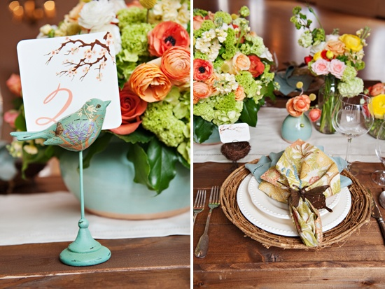 Wedding table setting details.