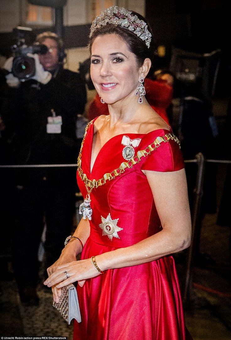 HRH Crown Princess Mary of Denmark - New Year's Banquet at Amalienborg Palace, Copenhagen - Jan 2018