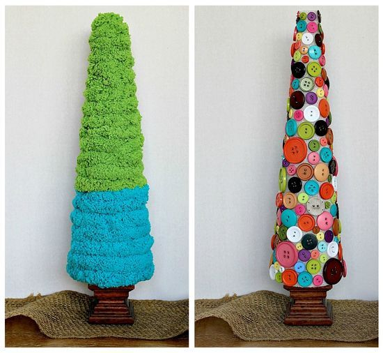 Styrofoam Cone Christmas Tree Craft