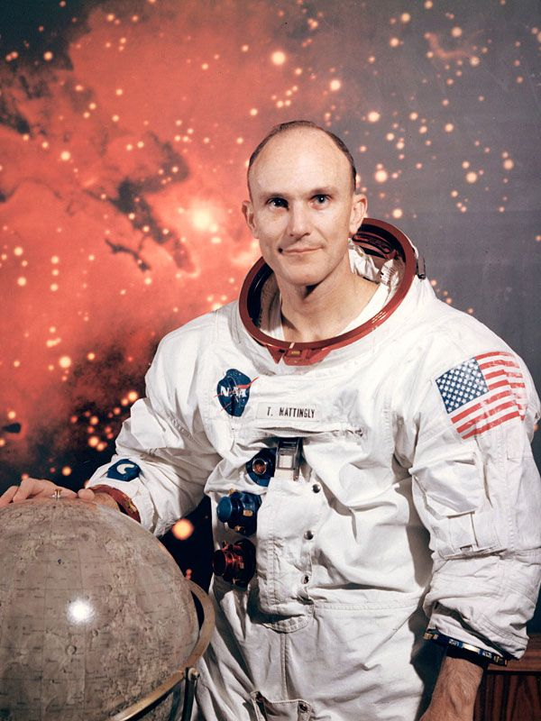 Ken Mattingly, originally scheduled to fly on Apollo 13, was scratched due to his exposure to the measles, flew on Apollo 16 and later on the space shuttle.