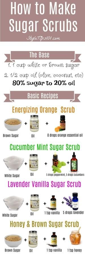 Learn how to make sugar scrubs from scratch. SO easy and SO cheap! by samanthasam