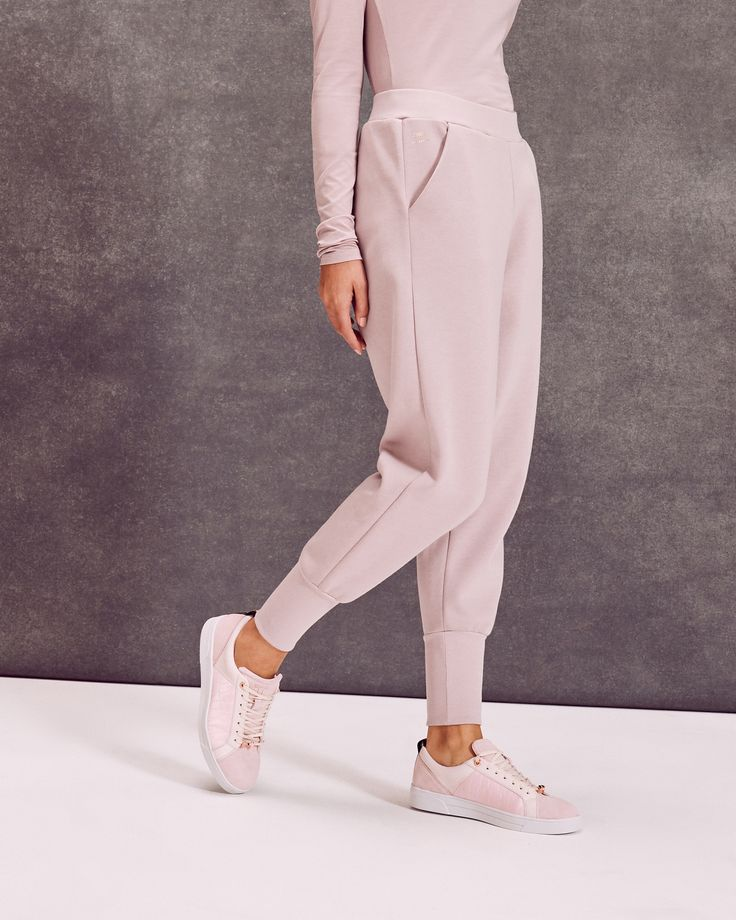 Ted Baker Ribbed cuff jogger trousers Dusky Pink