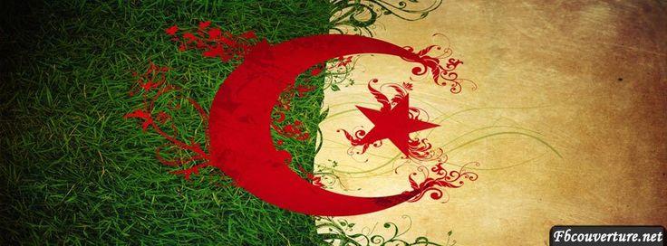 Drapeau D'Algérie Drapeaux Couverture Facebook -