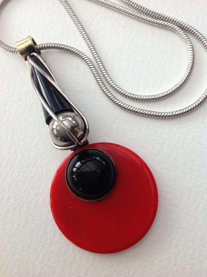 Deco Chrome and Bakelite Necklace £55 - Decogirl