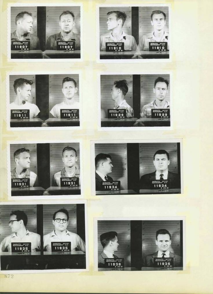 Civil Rights Mug Shots: Heroes Of The Montgomery Bus Boycott And Freedom Rides - Flashbak
