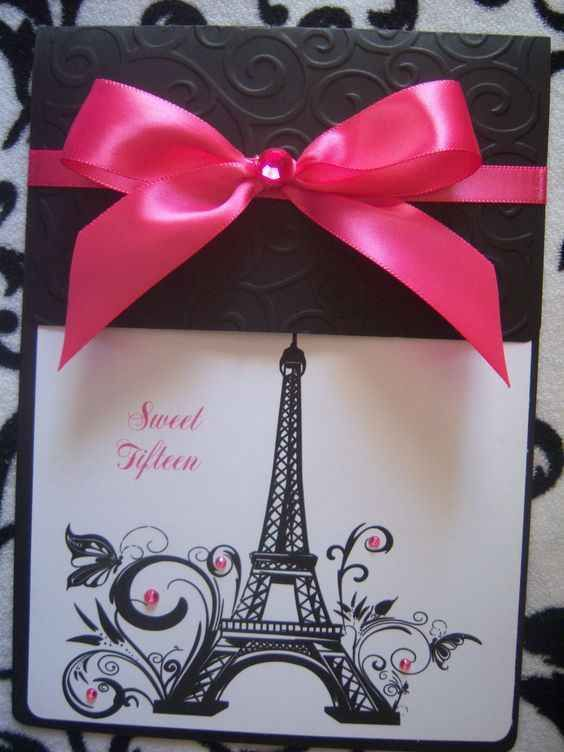 decoracion de invitacion de 15 años de paris (4)