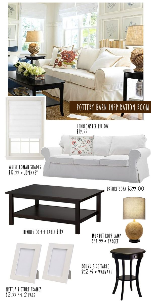 Pottery Barn Living Room Knockoff On A Budget