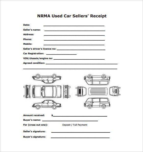 Nrma Used Car Receipt Template
