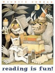 ,: Reading, Picture-Black Posters, Wild Things, Mauricesendak, Illustration, Fun, Children Books, Kid, Maurice Sendak