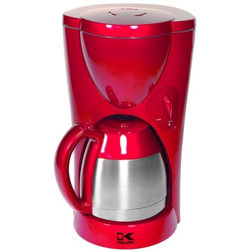 kalorik 8-10 cup red coffee maker