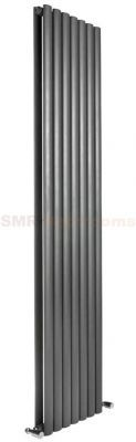 Neva double radiator - Anthracite finish - 413mm x 1800mm