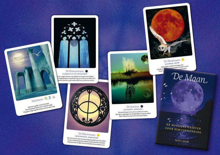 'De Maan, 66 mystieke kaarten voor bewustwording', Petra Stam  http://www.a3boeken.nl/nl/webshop/de-maan-66-mystieke-kaarten-voor-bewustwording-petra-stam/