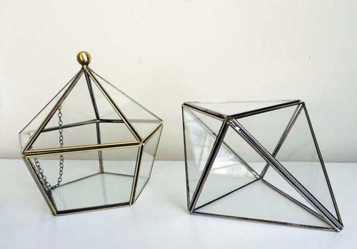 glass diamond and pentagon