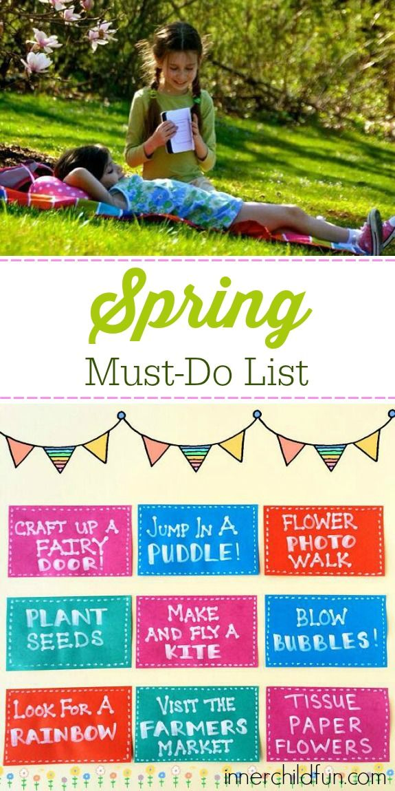 Spring Must-Do List - love these ideas for classic childhood Spring fun!
