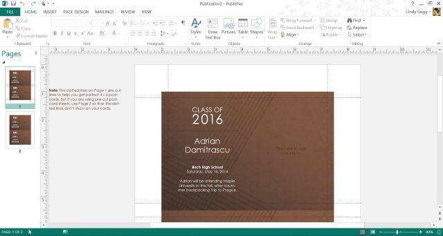 Microsoft's Best Templates for Honoring Graduates: Graduation Party Invitations Template for Microsoft Publisher or Word