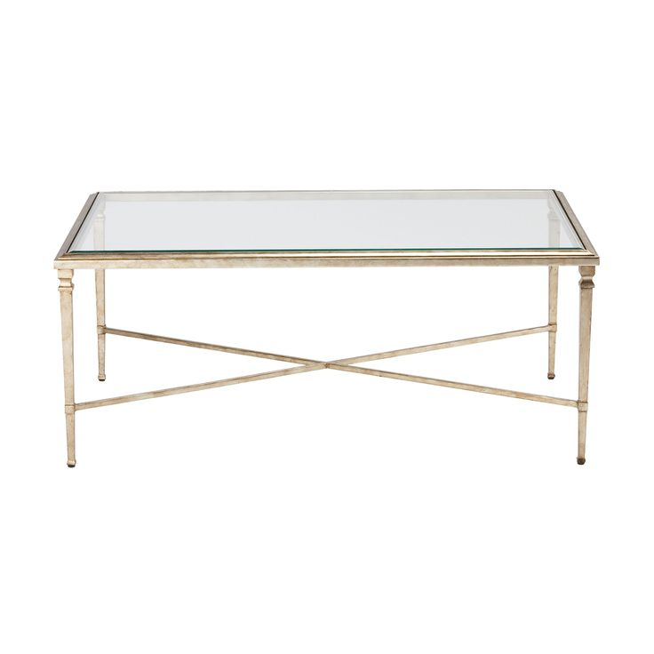 Glass Coffee Table Ethan Allen: Rectangular Heron Coffee Table