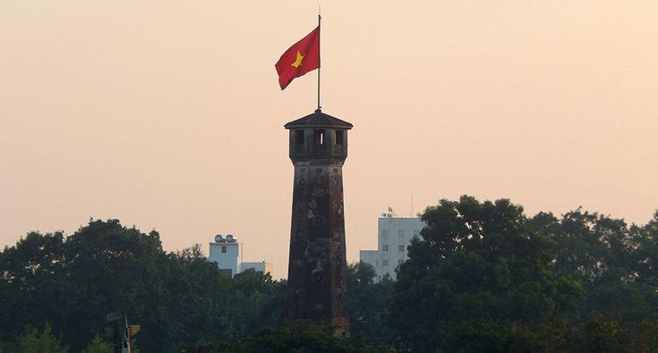 Flag tower in Hanoi / Thang Long. #hanoi #flag #tower #historical #building #travel