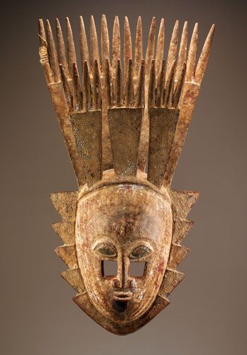 Africa | Artist: Attributed to Ajere Elewe of Epe | Yoruba peoples, Opin area, Nigeria | Late 19th to mid-20th century | Wood, pigment