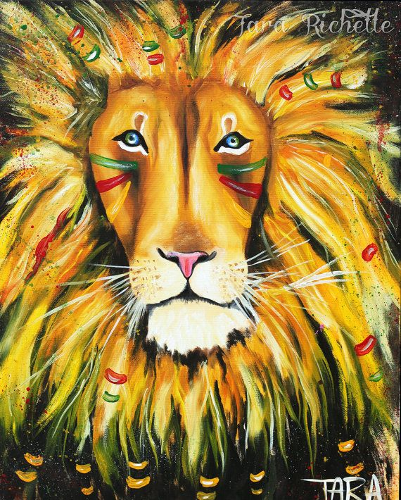 Iron Lion Zion, abstract lion, colorful, rasta, jamaica, modern, home decor, bob marley, reggae, wall art, african, tribal, warrior, tribe