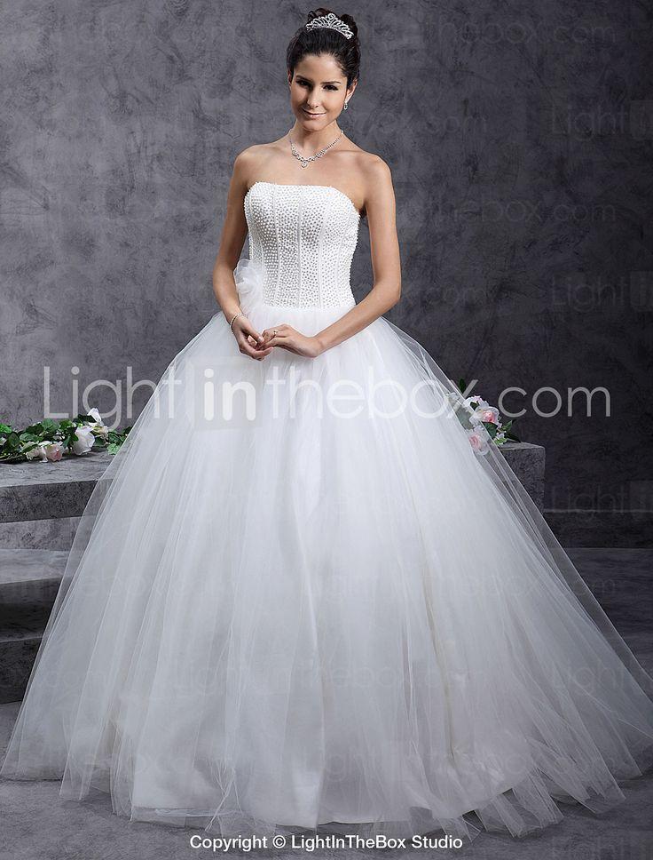 SYNA - Vestido de Noiva em Cetim e Tule