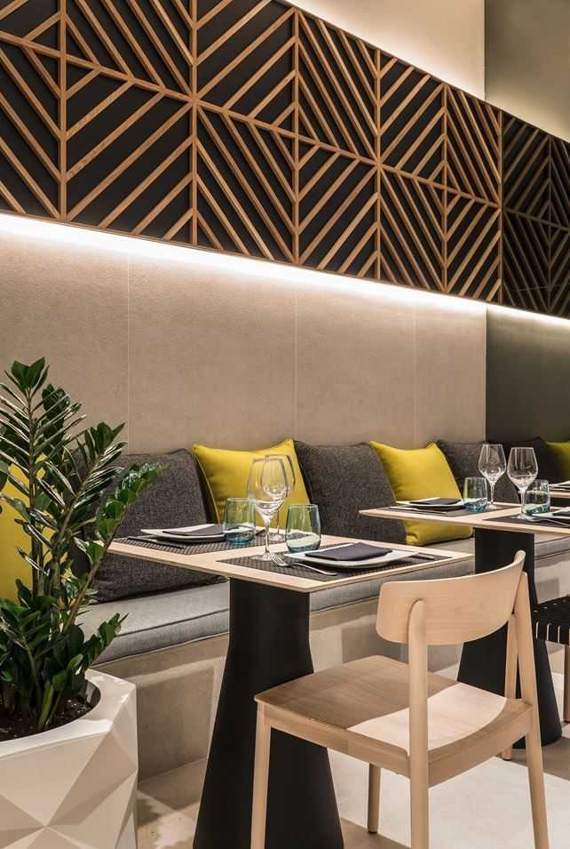 the main idea of this project was to create an interior and image redesign graphics a restaurant with more than 30 of experience in the field of - Restaurant Interior Design Ideas