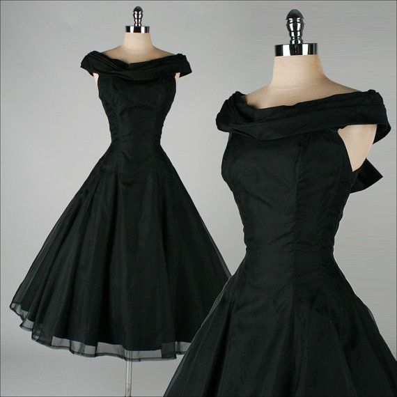 vintage 1950s dress . SUZY PERETTE . black by millstreetvintage, $225.00
