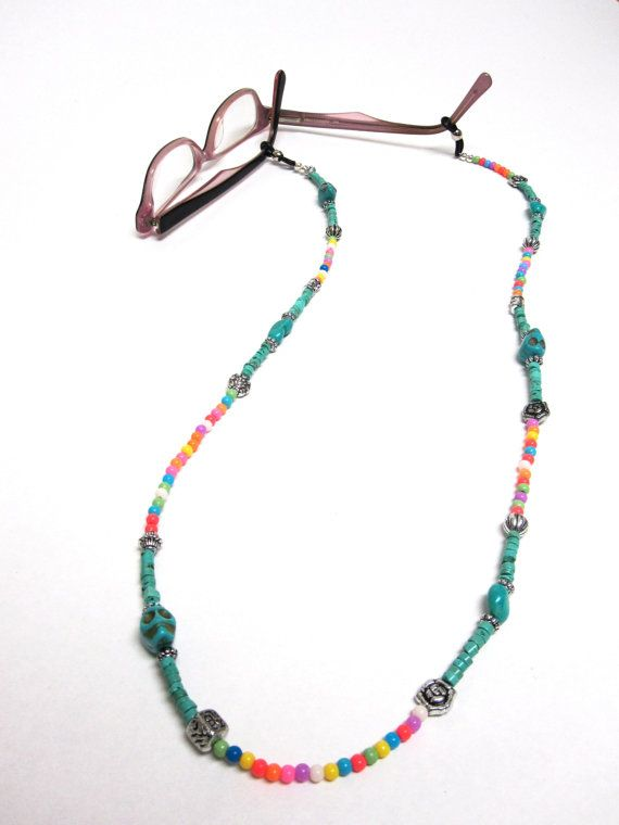 Eyeglass Lanyard Necklace Day Of The Dead Sugar by sweetie2sweetie, $24.99