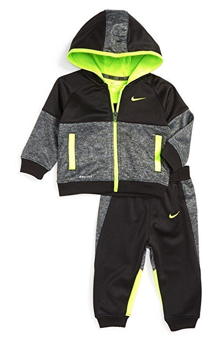 a08f19df09 Amazon.com : Nike Baby Boys` Therma-Fit Hoodie & Jogging Pants 2 Piece Set  : Sports Related Merchandise : Sports & Outdoors
