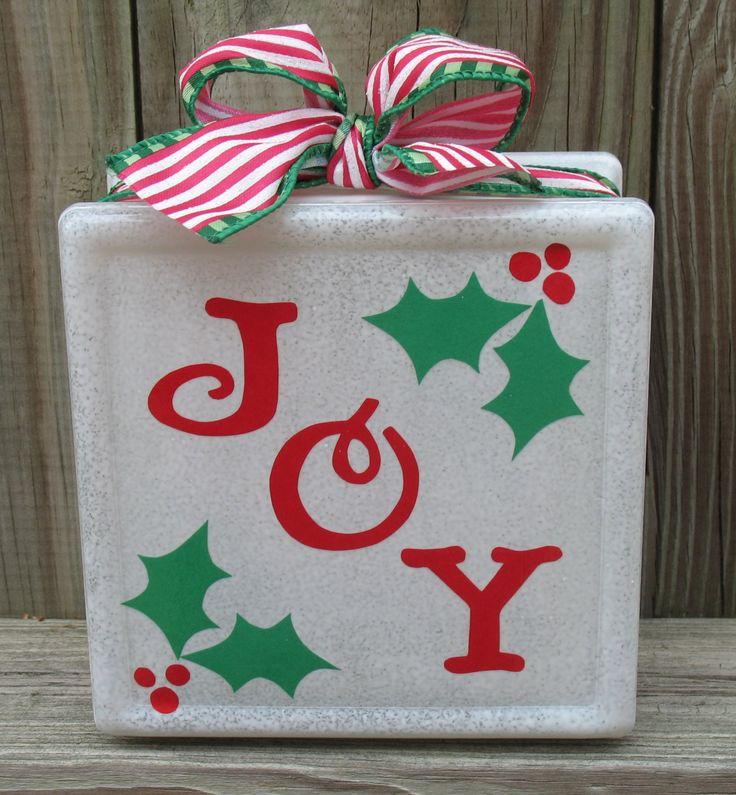 Christmas Ideas Pinterest: 25+ Best Ideas About Christmas Glass Blocks On Pinterest