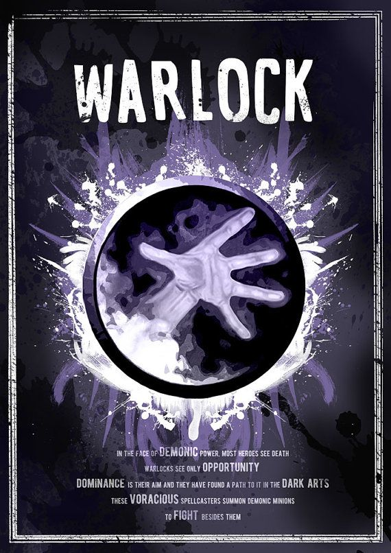 World of Warcraft: Warlock Class Symbol print/poster by SodaArcade