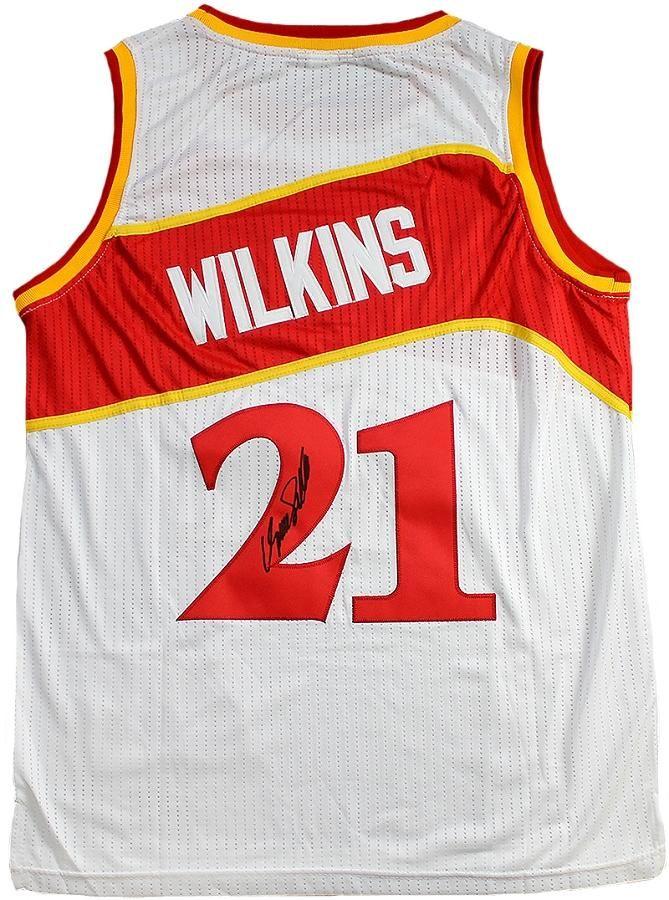 6a0421725 Dominique Wilkins Autographed Atlanta Hawks Adidas Jersey