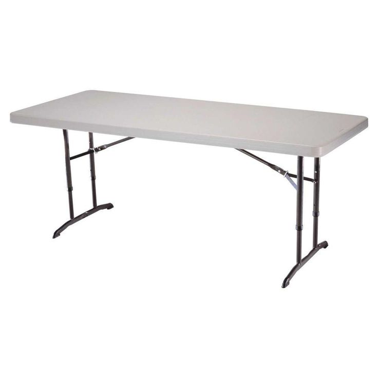 6ft Folding Table Adjustable Height