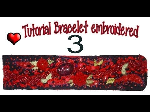Tutorial 2 Cuff embroidered with beads and felt. How to make. - YouTube