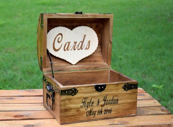 Rustic Wooden Card Box Rustic Wedding Card Box by CountryBarnBabe