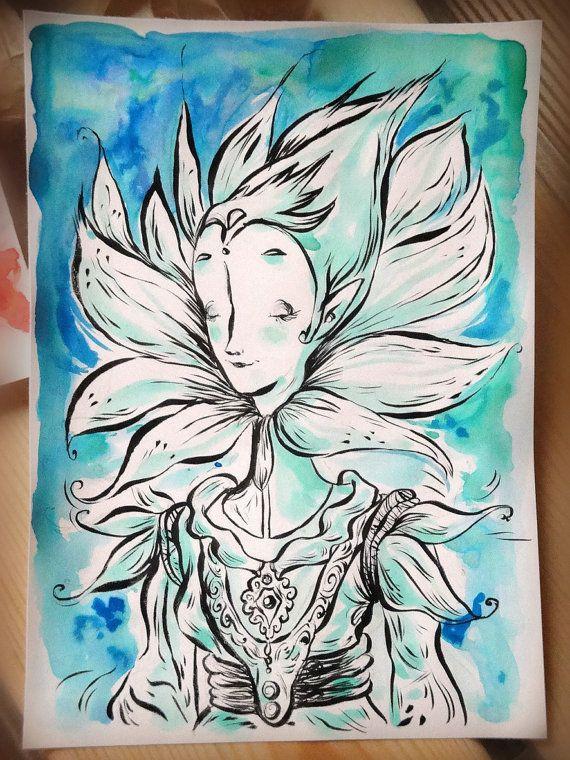 Blue Flower fairie by UltramarineTales on Etsy