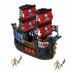 Shop for Imaginext® Pirate Ship and buy something that will spark your child's imagination. Find the perfect action toys featuring pirates, dinosaurs and dragons from Imaginext and Fisher-Price.