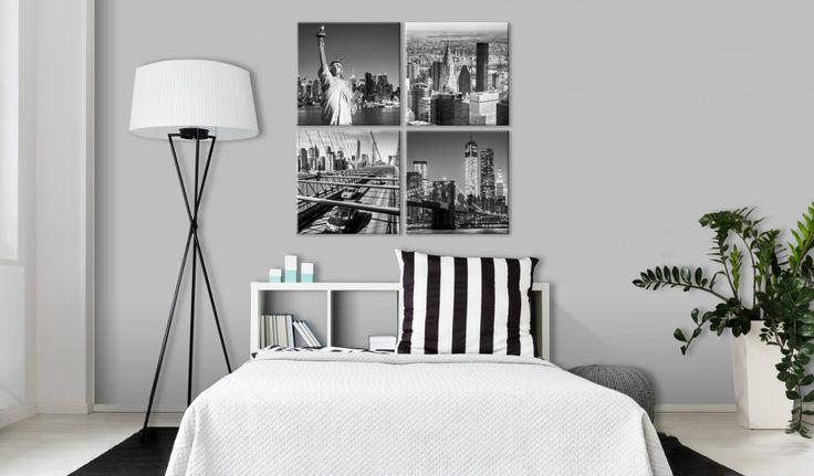 Quatre visages de New York en une seule décoration ? Pourquoi pas ? :) #tableau #tableaux #newyork #architecture #enquatreparties #noiretblanc #bimago