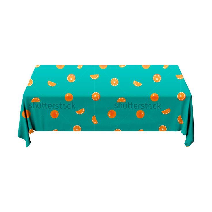 Tafelkleed Sinaasappelstukjes | Fleur je keuken op met dit weerbestendige tafelkleed bestaande uit geweven linnen met PVC.   #tafelkleed #keukentextiel #keuken #kleed #pvc #print #opdruk #tafel #weerbestendig #patronen #patroon #sinaasappel #sinaasappels