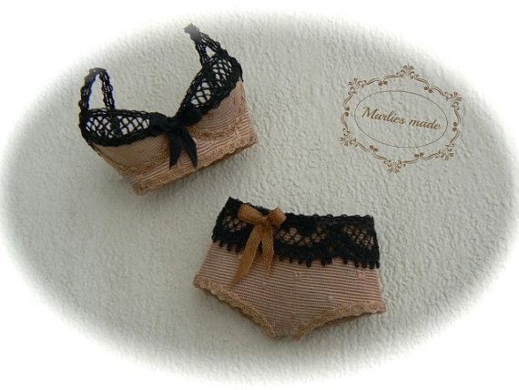 Bra with comfort panties in 1:12 scale