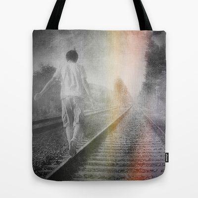 Train path. Tote Bag by Viviana Gonzalez - $22.00