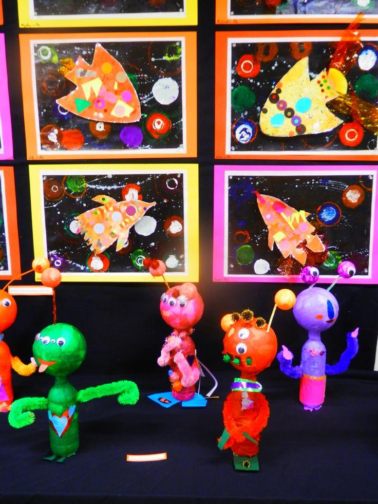 Aliens and rocket art. Pre-Primary