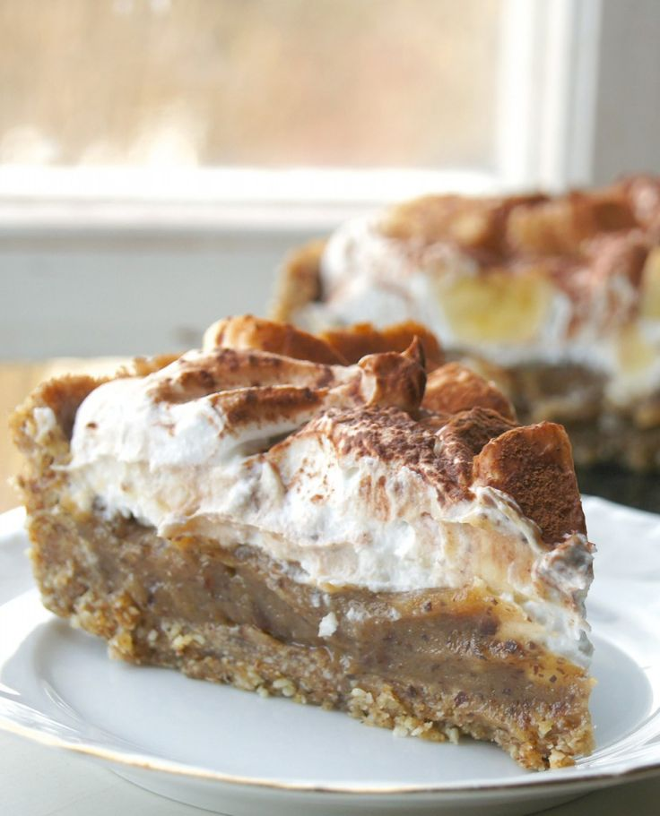 No-Bake Vegan Banoffe Pie | http://www.gluten-free-vegan-girl.com/2013/04/no-bake-vegan-banoffe-pie.html