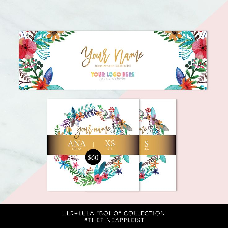 """LLR+LULA """"BOHO"""" Social Media Bundle, JPGs for Instagram/Facebook, Facebook Group Cover Photo, Free Customize, Free Size/Style guides + more by THEPINEAPPLEIST on Etsy"""