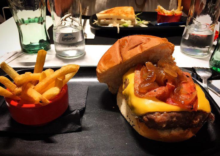 #Burger #Chips