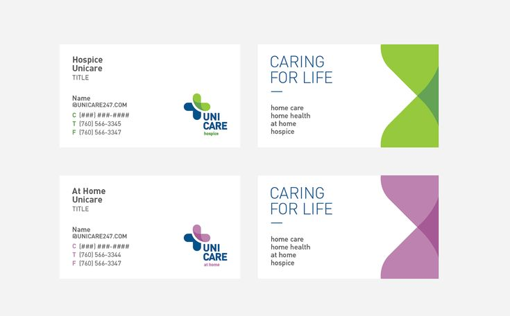 Uni Care is non-profit health care organization and hospice company served senior communities in San Diego, Riverside and Imperial County over 10 years. As they grow their services and businesses, they have needed refreshing their company identity.