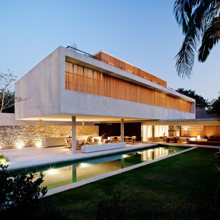 Casa 6, São Paulo, Brasil - Márcio Kogan : studio mk27Sao Paulo, Home, Outdoor Living, Bedrooms Design, Marcio Kogan, Architecture, Modern House, Concrete House